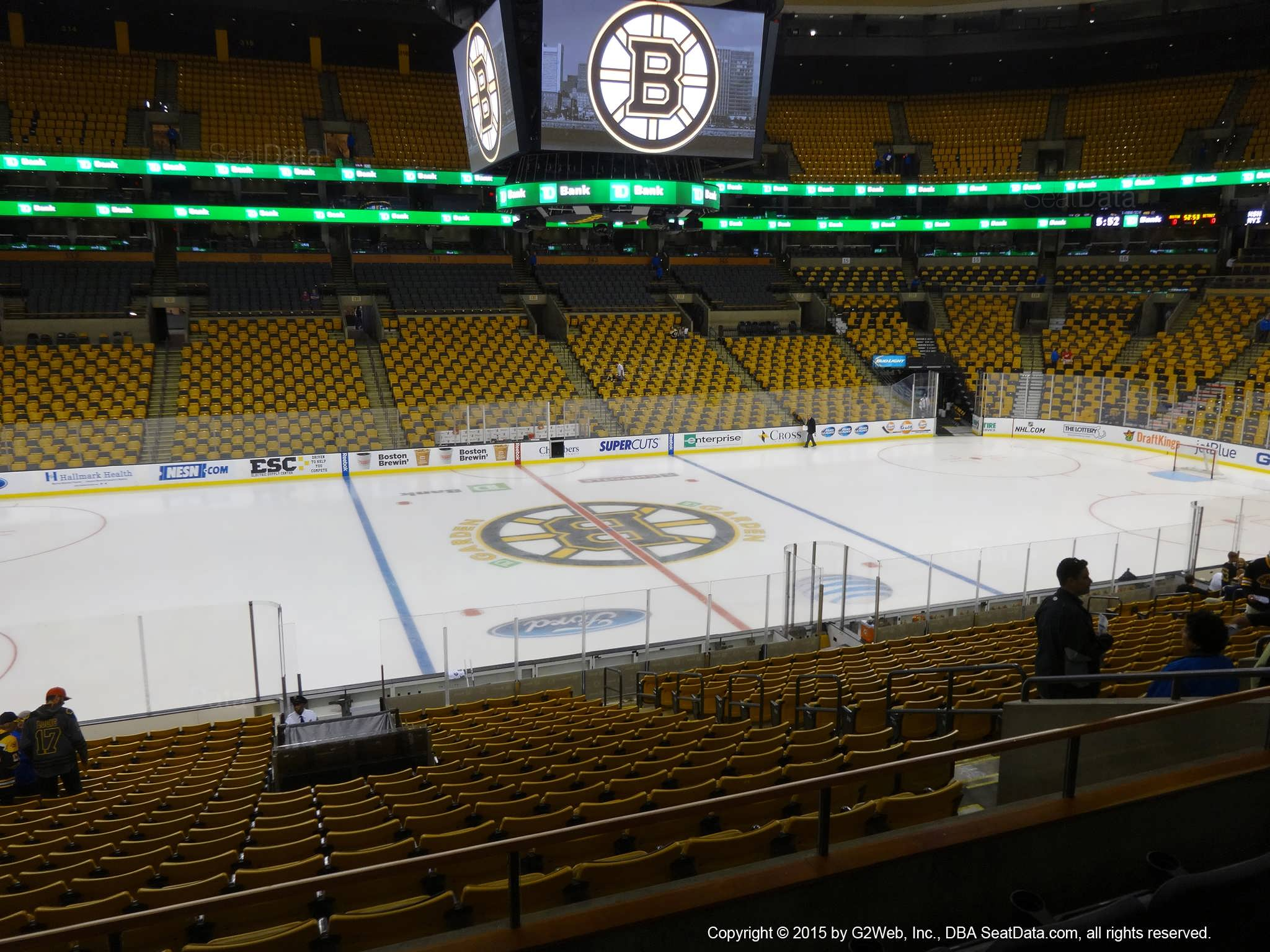 Boston Bruins Seat View for TD Garden Section 113