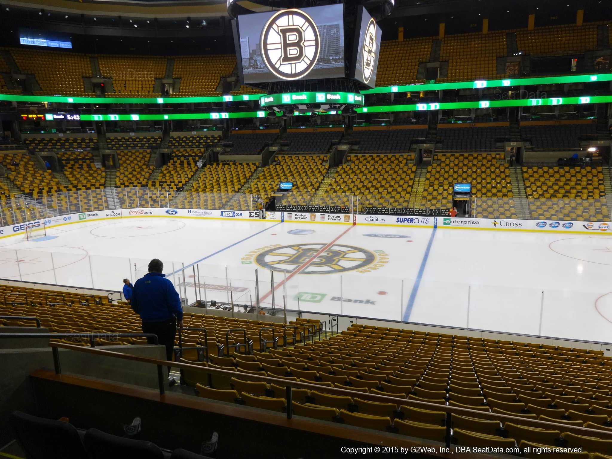 Boston Bruins Seat View for TD Garden Section 139