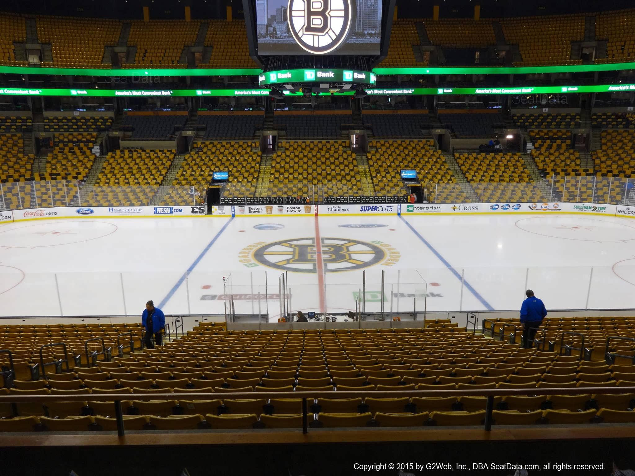 Boston Bruins Seat View for TD Garden Section 141