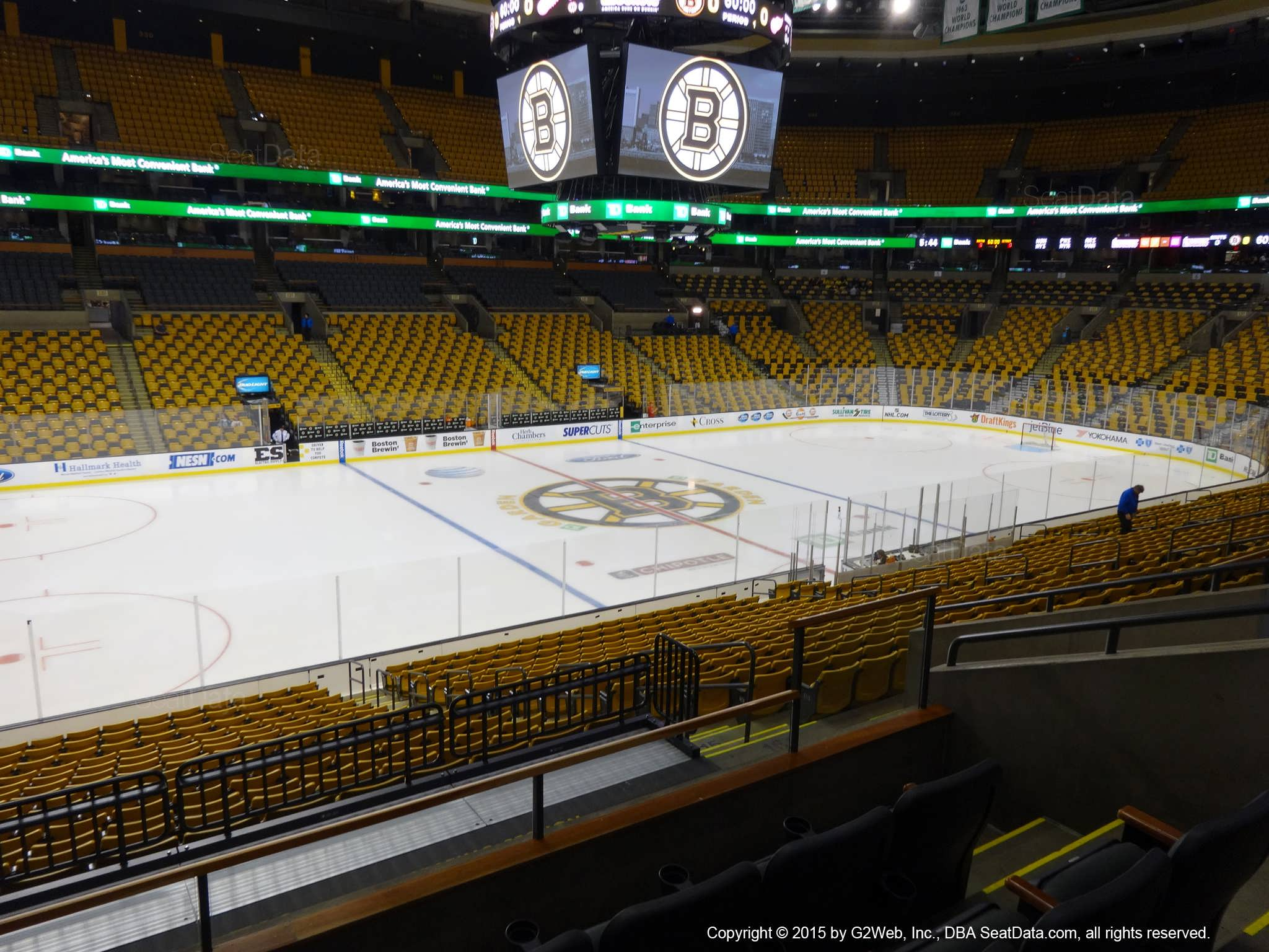 Boston Bruins Seat View for TD Garden Section 145