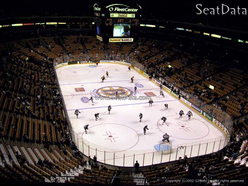 Boston Bruins Seat View for TD Garden Section 310