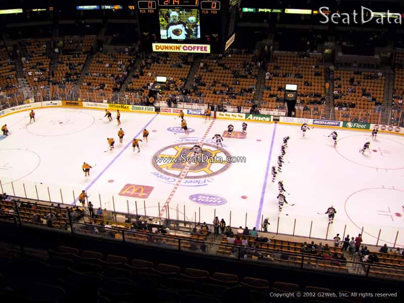 Boston Bruins Seat View for TD Garden Section 315