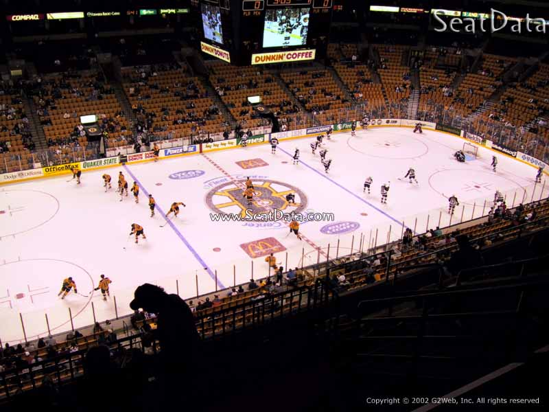 Boston Bruins Seat View for TD Garden Section 318