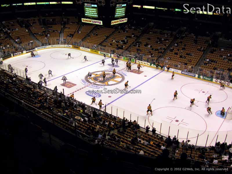Boston Bruins Seat View for TD Garden Section 328