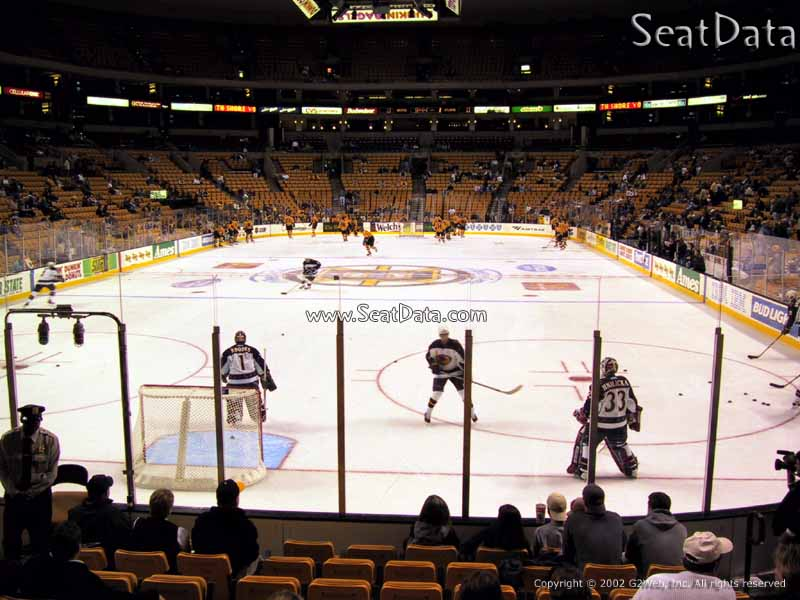 Boston Bruins Seat View for TD Garden Loge 6