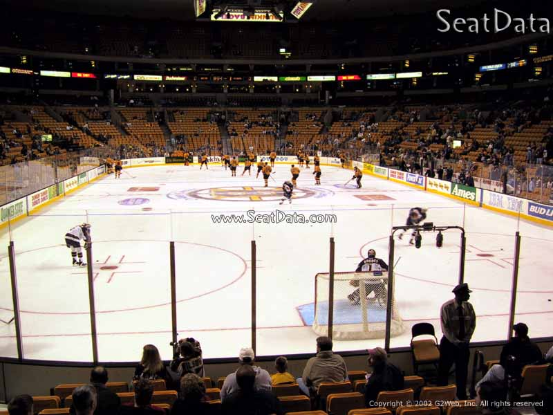 Boston Bruins Seat View for TD Garden Loge 7