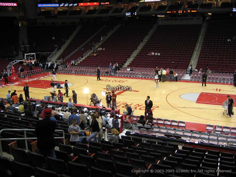 Toyota Center Section 119 Houston Rockets