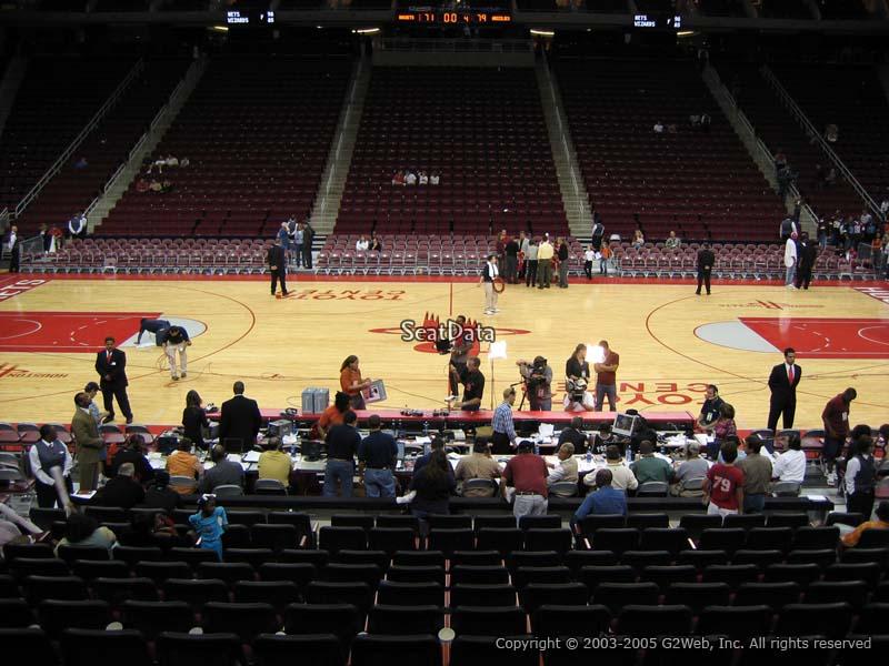 100 Level Center Club Seats Toyota Center Basketball