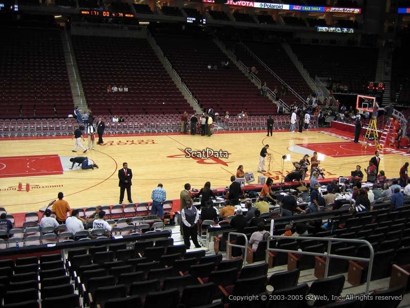 Toyota Center Section 121 Houston Rockets