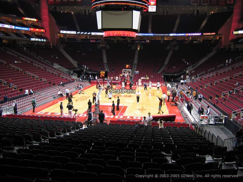 Toyota Center Section 126 Seat Views Seatscore Rateyourseats