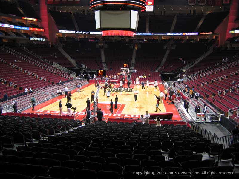 Toyota Center Section 126 Seat Views/SeatScore - RateYourSeats