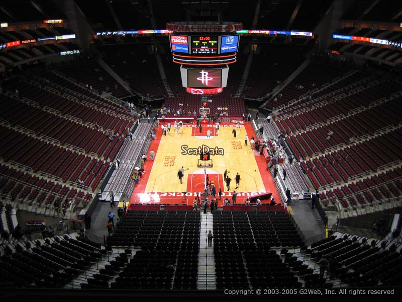 Toyota Center Section 401 Houston