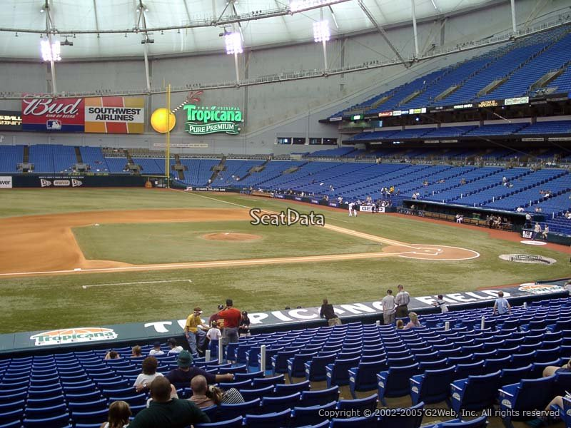 Tropicana Field Section 117 Seat View