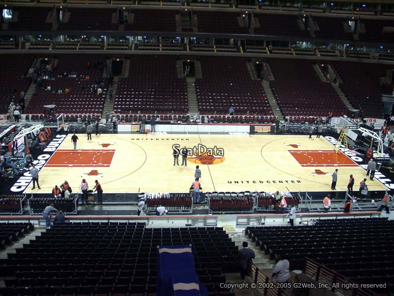 Chicago Bulls Seat View for United Center Section 218