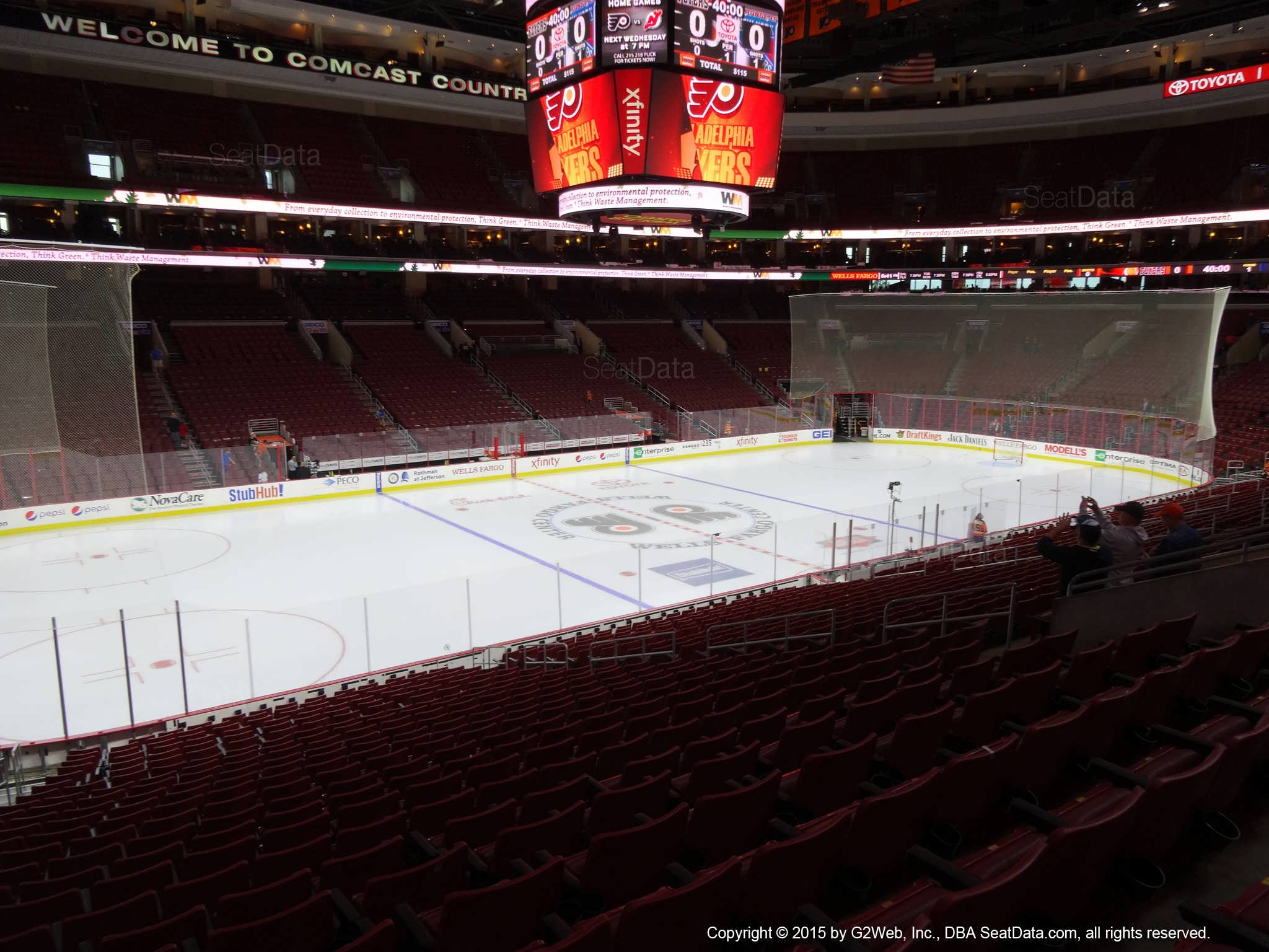 Philadelphia Flyers Seat View for Wells Fargo Center Club Box 11
