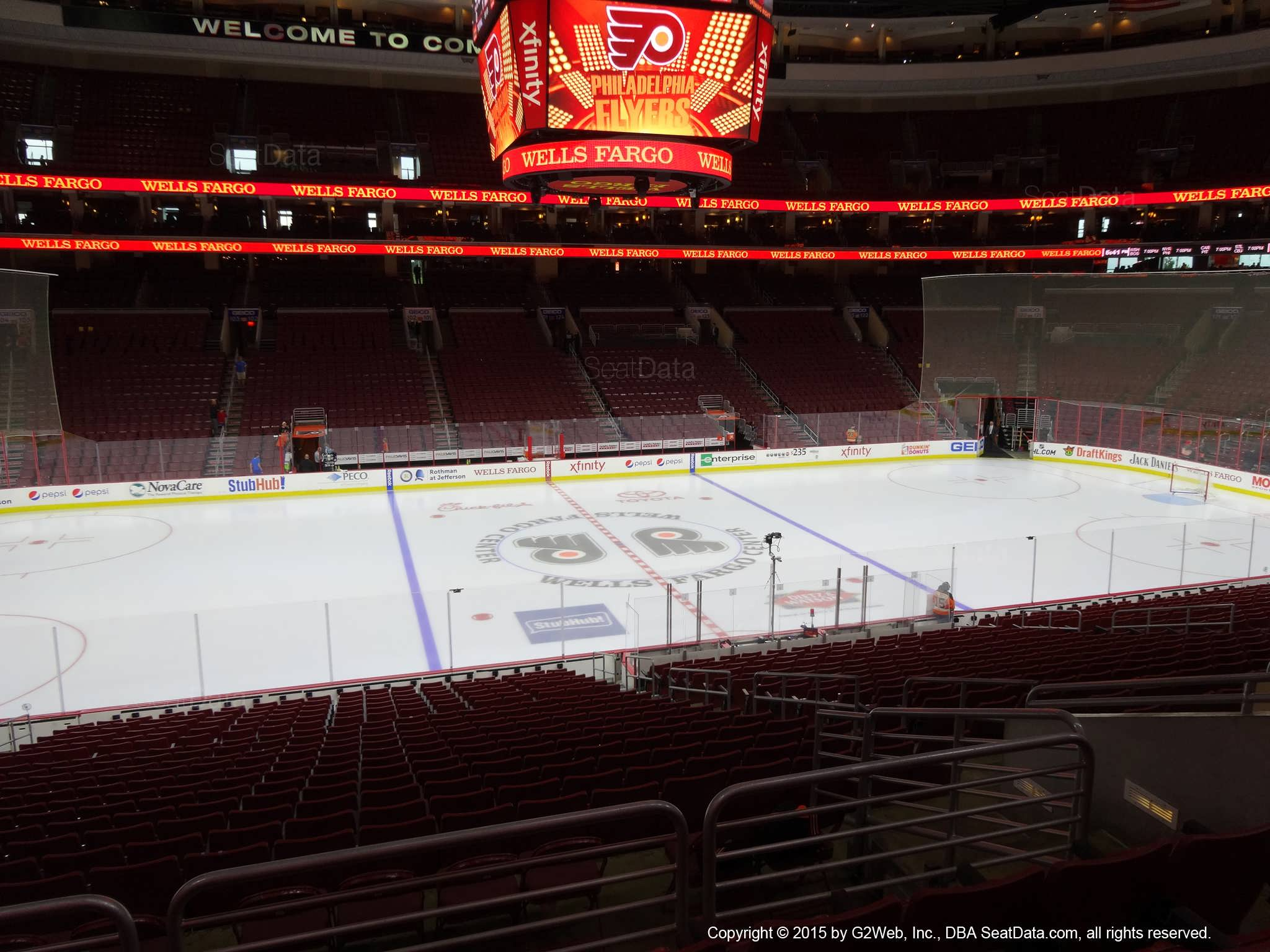 Philadelphia Flyers Seat View for Wells Fargo Center Club Box 12
