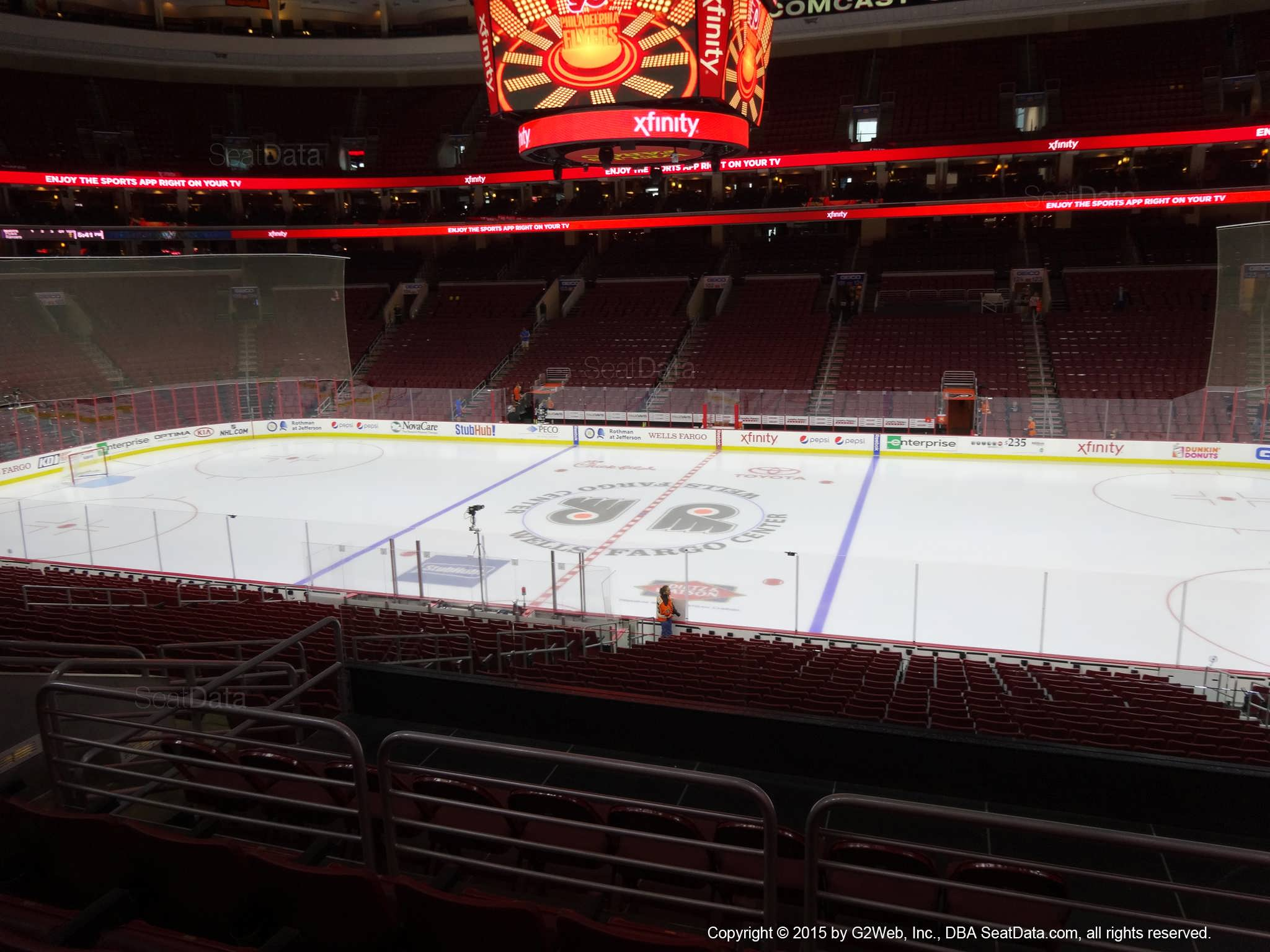 Philadelphia Flyers Seat View for Wells Fargo Center Club Box 14