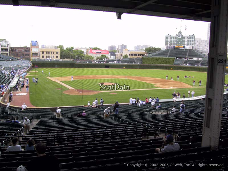 Wrigley field section 220 chicago cubs rateyourseats com