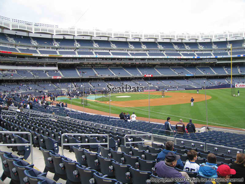 View from Section 111 at Yankee Stadium