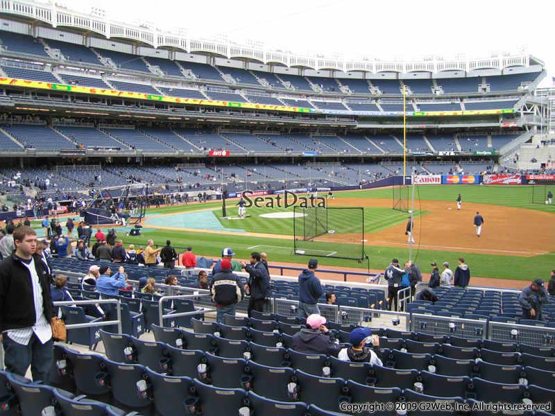 Yankee Stadium Section 114B - New York Yankees ...