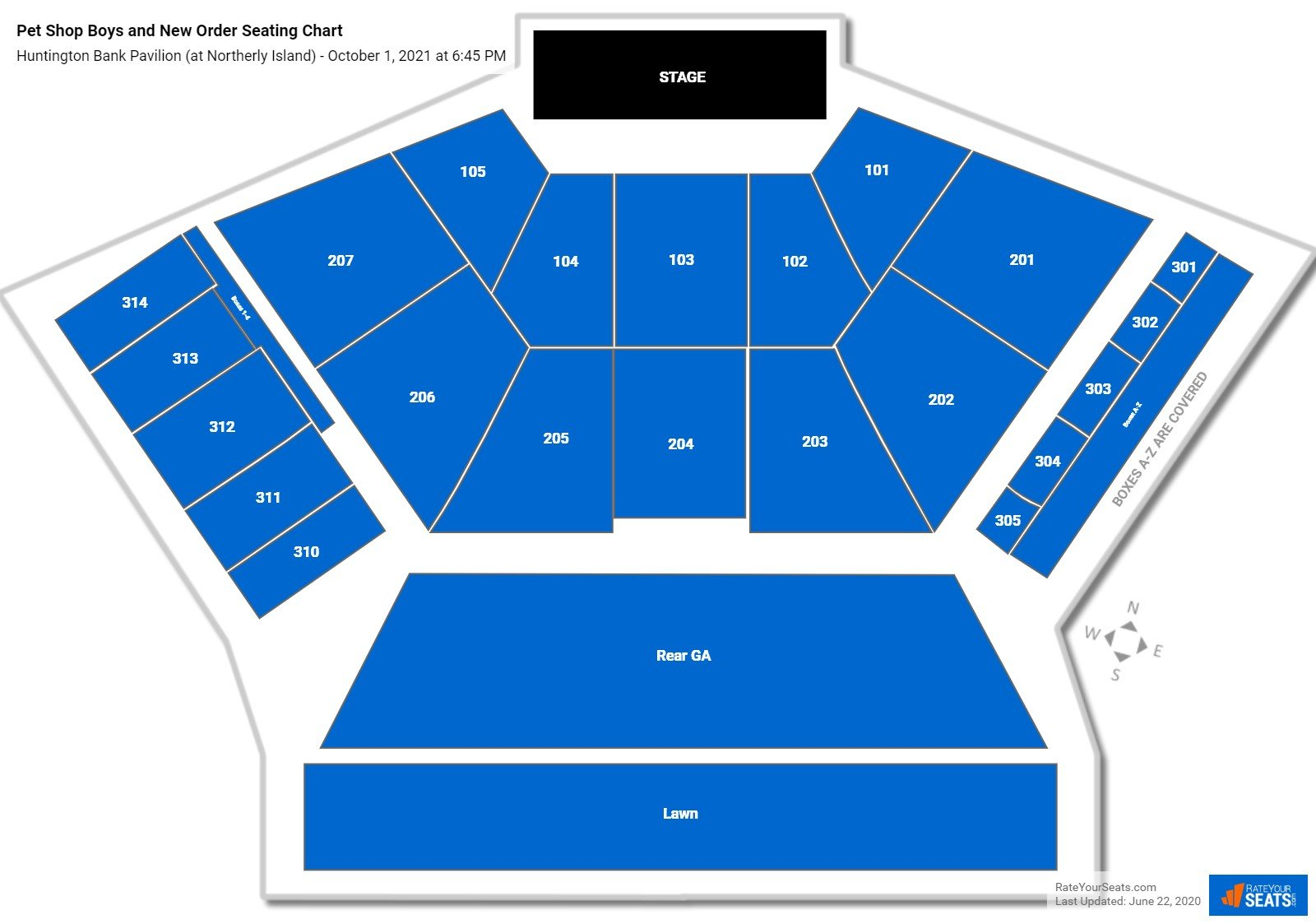 Huntington Bank Pavilion Seating Chart - RateYourSeats.com