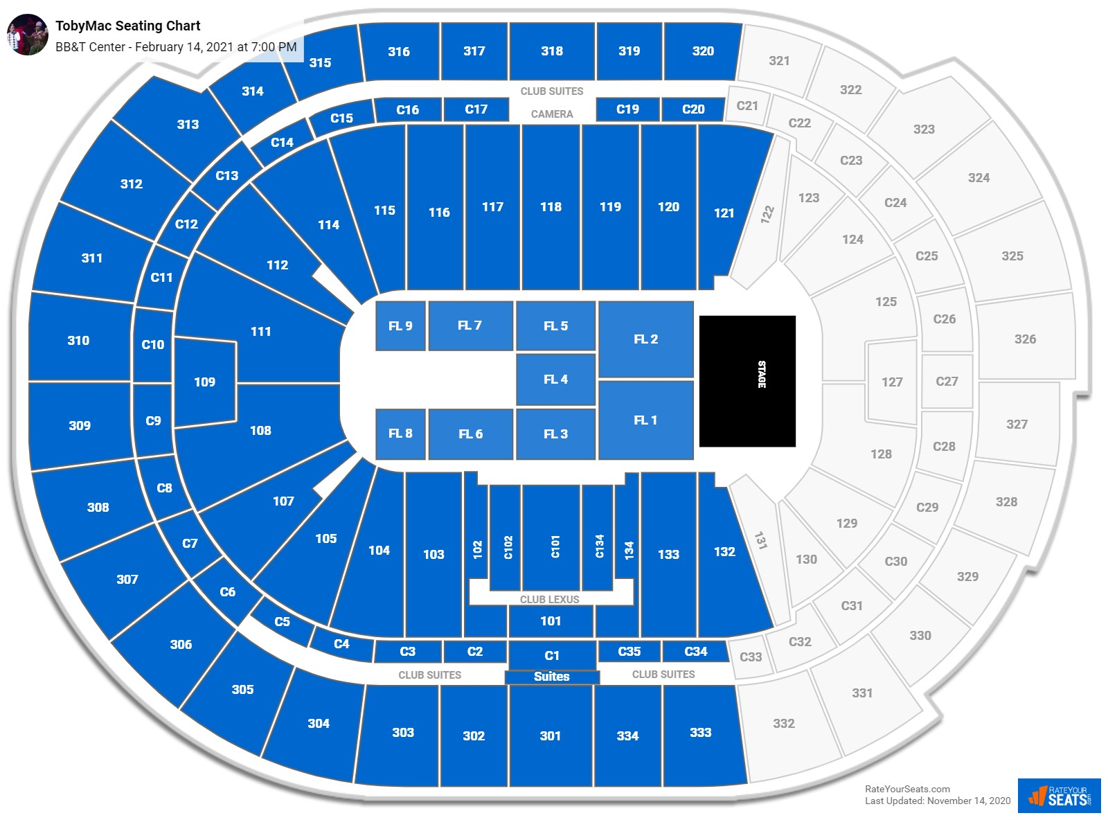 BB&T Center Seating Charts for Concerts - RateYourSeats.com