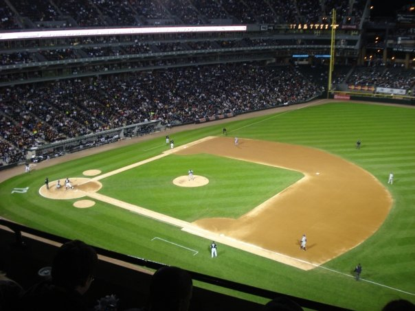 Seat View for Guaranteed Rate Field Section 520, Row 3, Seat 7