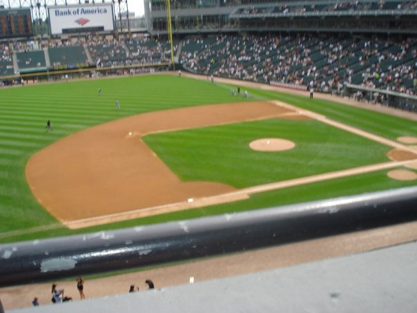 Seat View for Guaranteed Rate Field Section 342, Row 1, Seat 4