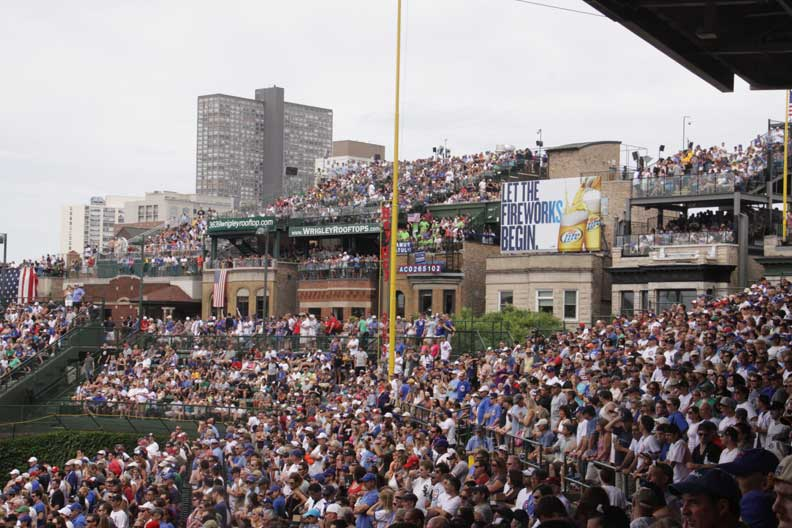Fans Sitting Near Wrigley Field Section 227