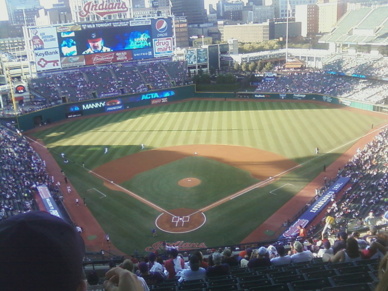 Seat View for Progressive Field Section 551, Row W, Seat 20