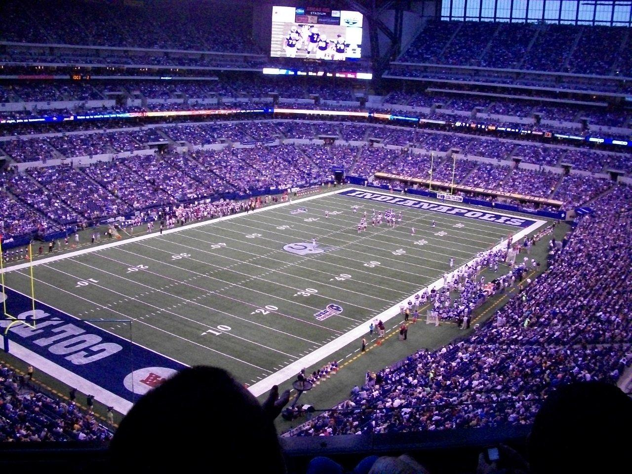 Indianapolis Colts Seat View for Lucas Oil Stadium Section 547, Row 3, Seat 24