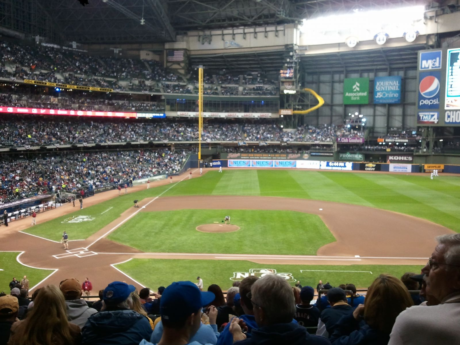 Seat View for Miller Park Section 214, Row 14, Seat 15