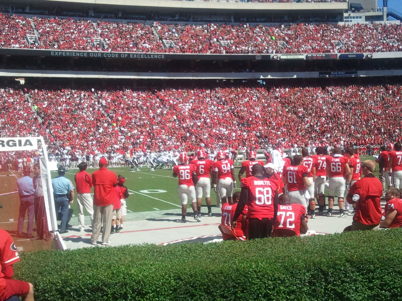 Seat View for Sanford Stadium Section 133, Row 23, Seat 1