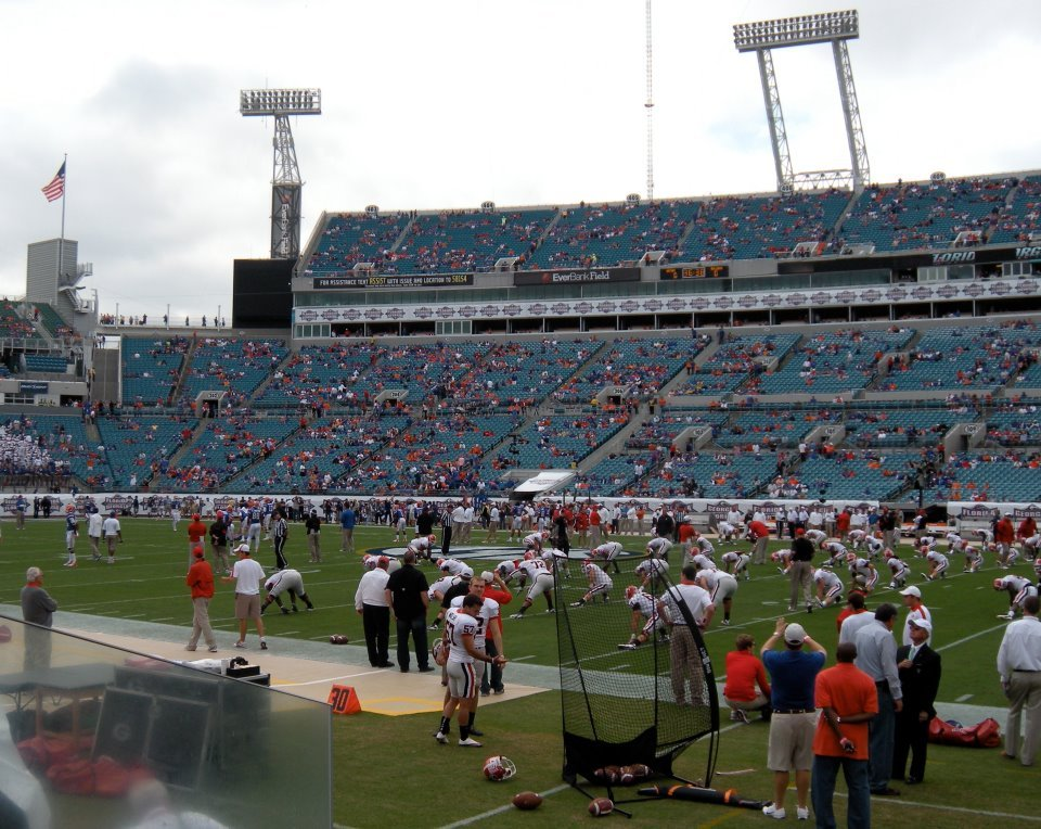 Seat View for TIAA Bank Field Section 133, Row B, Seat 12