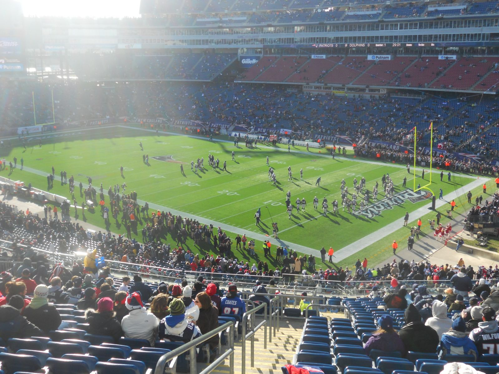 New England Patriots Seat View for Gillette Stadium Section 203, Row 24, Seat 29
