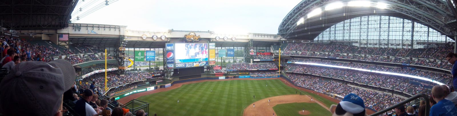 Seat View for Miller Park Section 430, Row 15, Seat 1