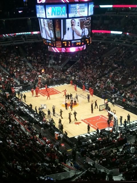 Chicago Bulls Seat View for United Center Section 329, Row 11, Seat 5