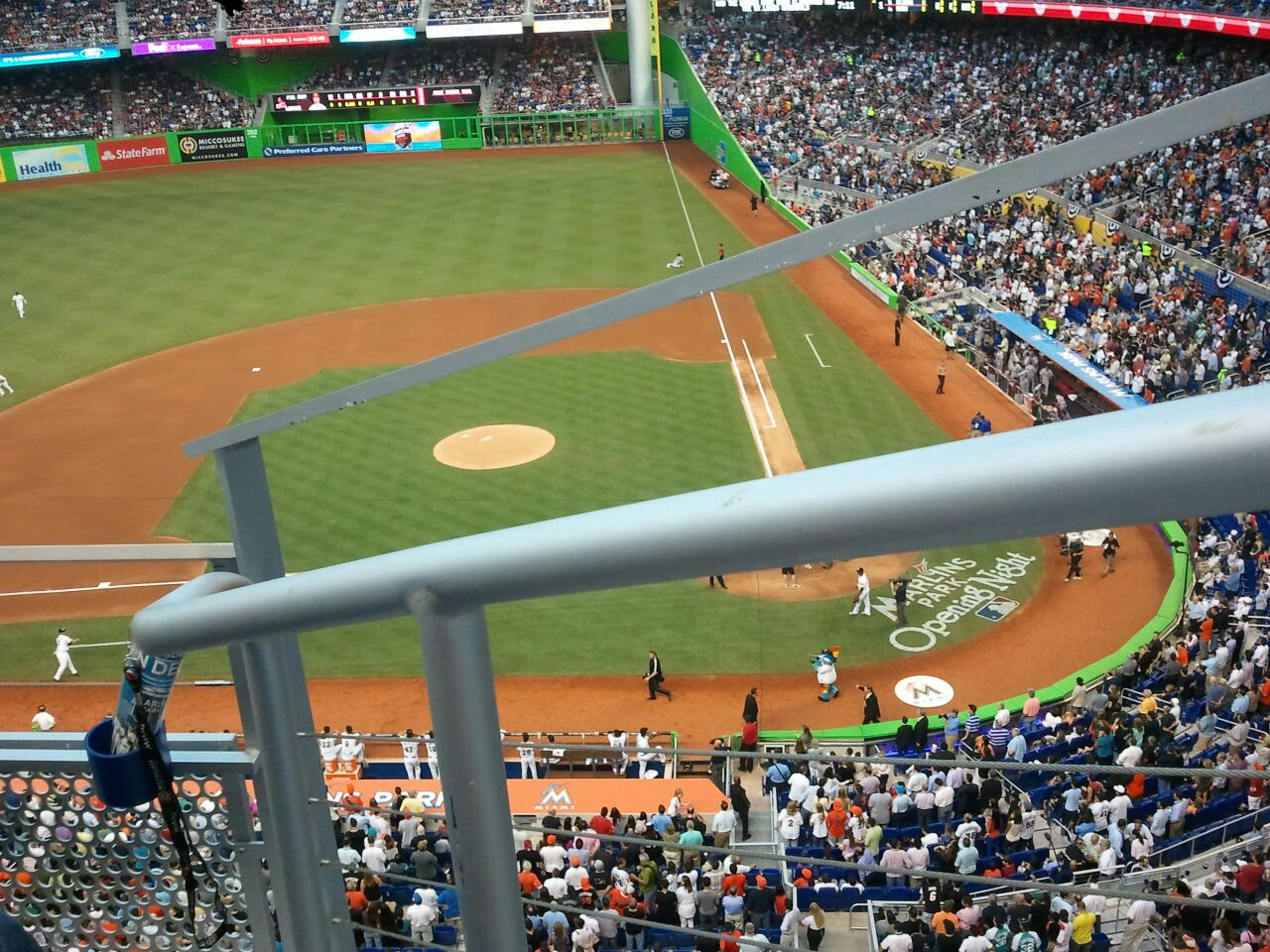 Miami Marlins Seat View for Marlins Park Section 319, Row B, Seat 1