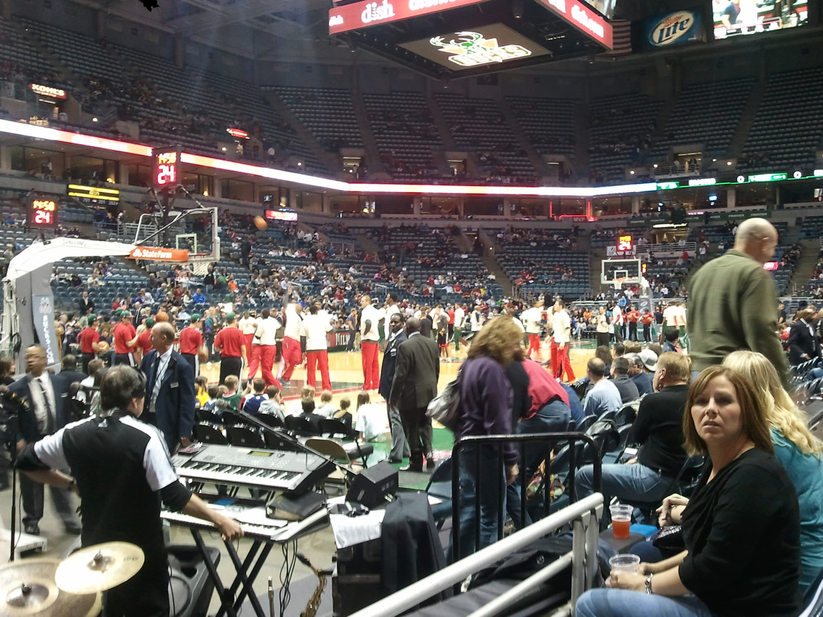 Seat View for Bradley Center Section 217, Row B, Seat 7