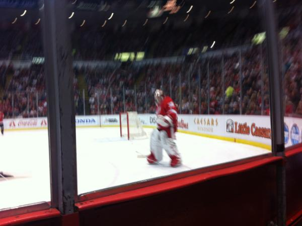 Seat View for Joe Louis Arena Section 105, Row 1, Seat 1