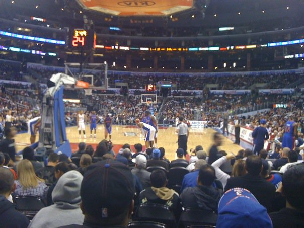 Basketball Seat View for Staples Center Section 106, Row H