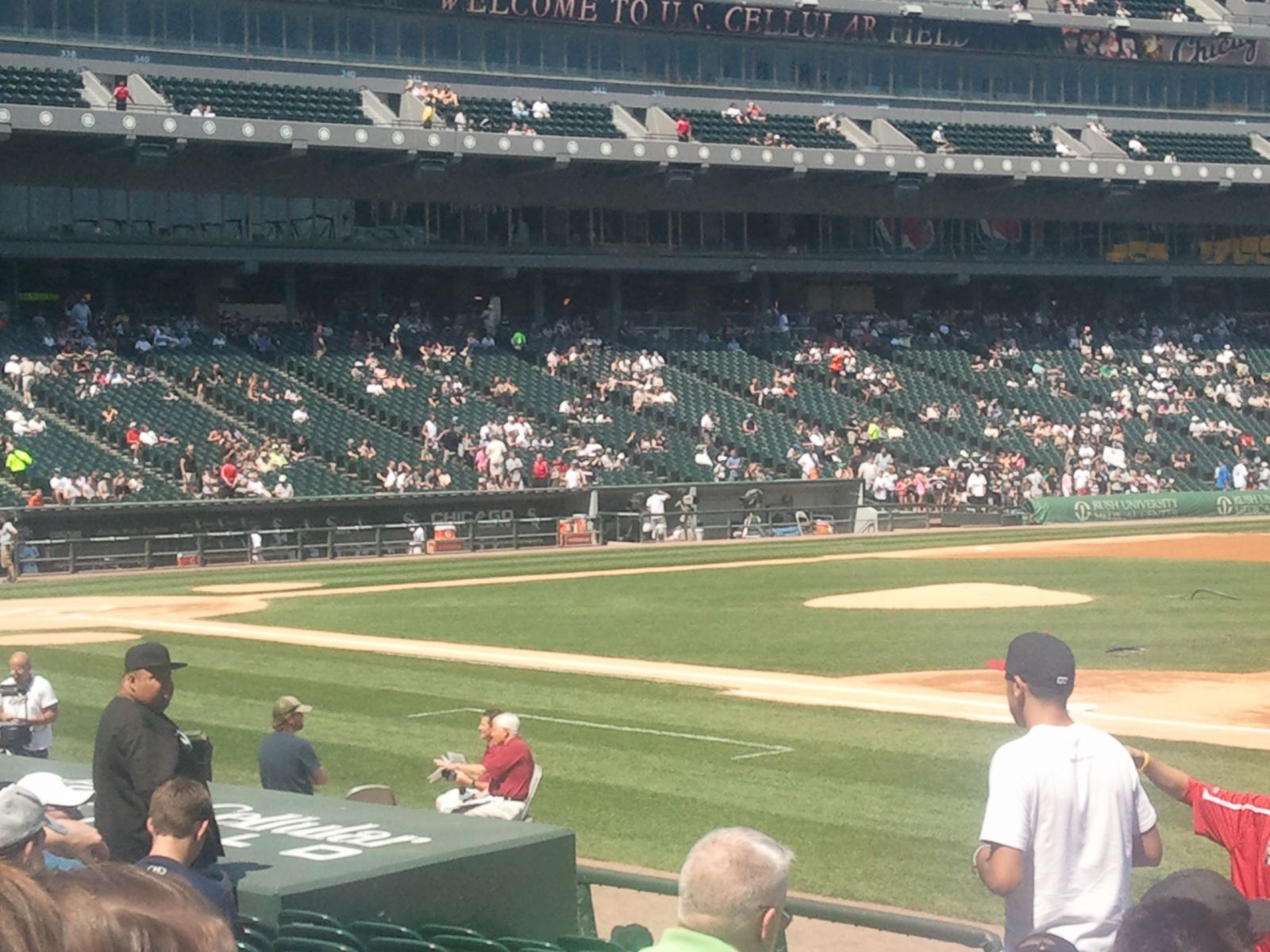 Seat View for Guaranteed Rate Field Section 120, Row 13, Seat 1