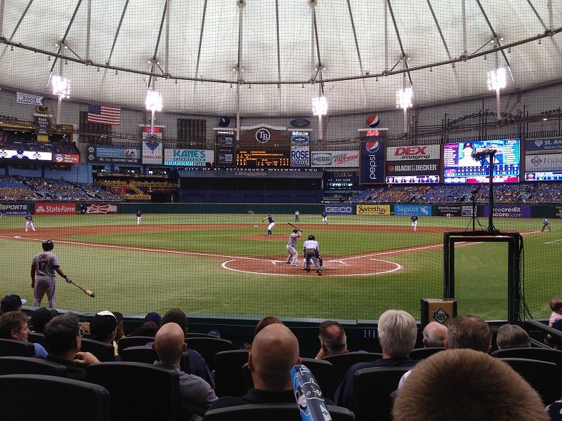 Tampa Bay Rays Seat View for Tropicana Field Section 101, Row M, Seat 1