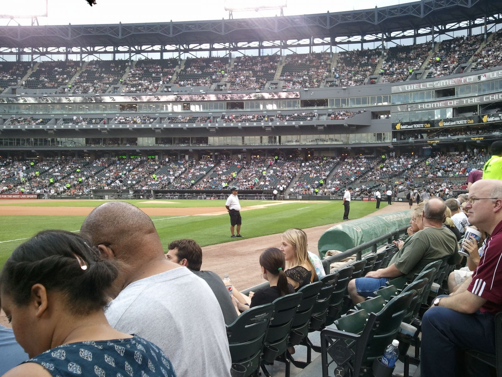 Seat View for Guaranteed Rate Field Section 148, Row 2, Seat 1