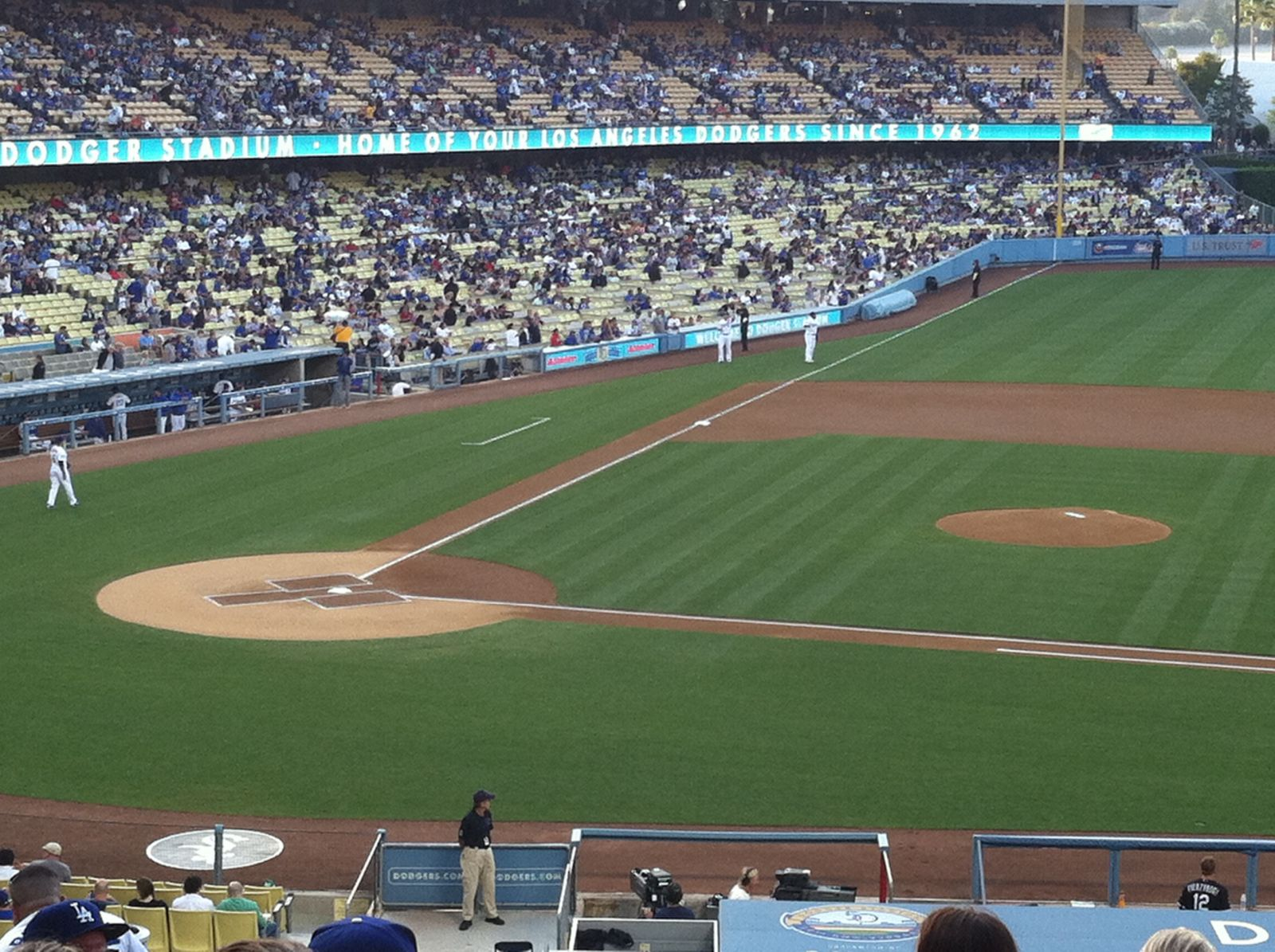 Seat View for Dodger Stadium Section 130, Row L