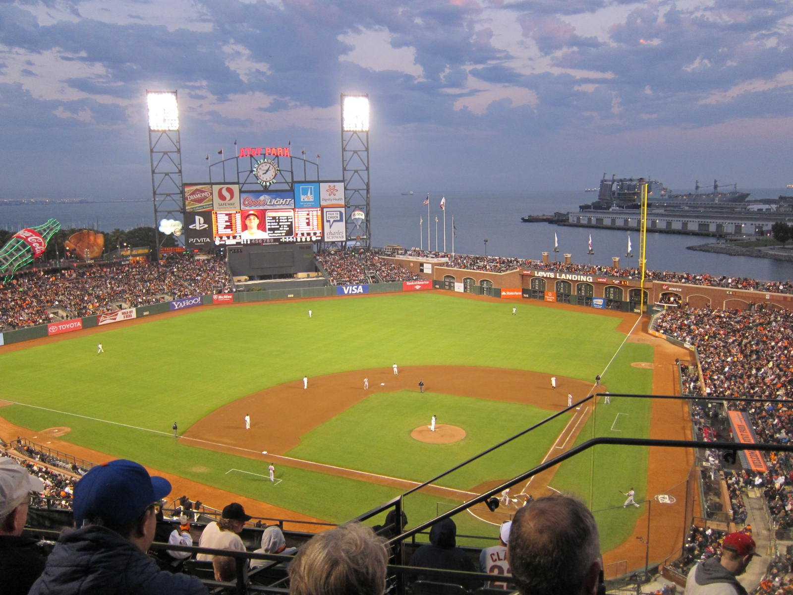 San Francisco Giants Seat View for AT&T Park Section 319, Row 3, Seat 1