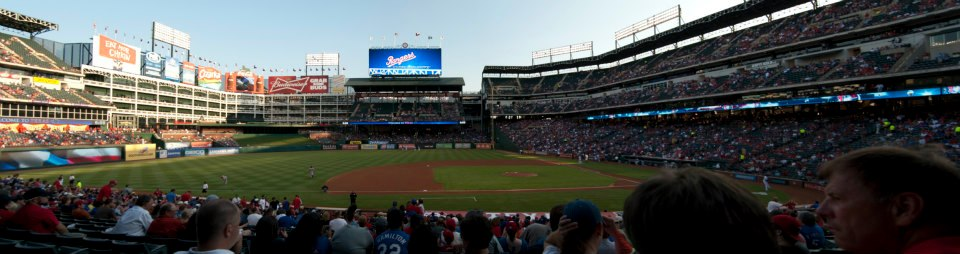 Seat View for Globe Life Park Section 19, Row 25, Seat 5
