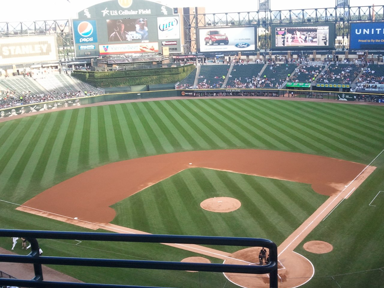Seat View for Guaranteed Rate Field Section 534, Row 3, Seat 9