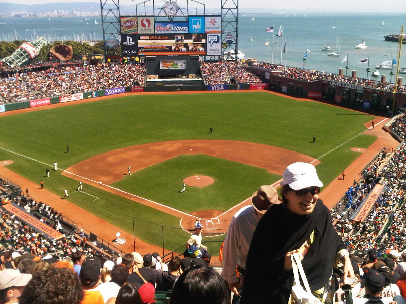San Francisco Giants Seat View for AT&T Park Section 317, Row 12, Seat 2