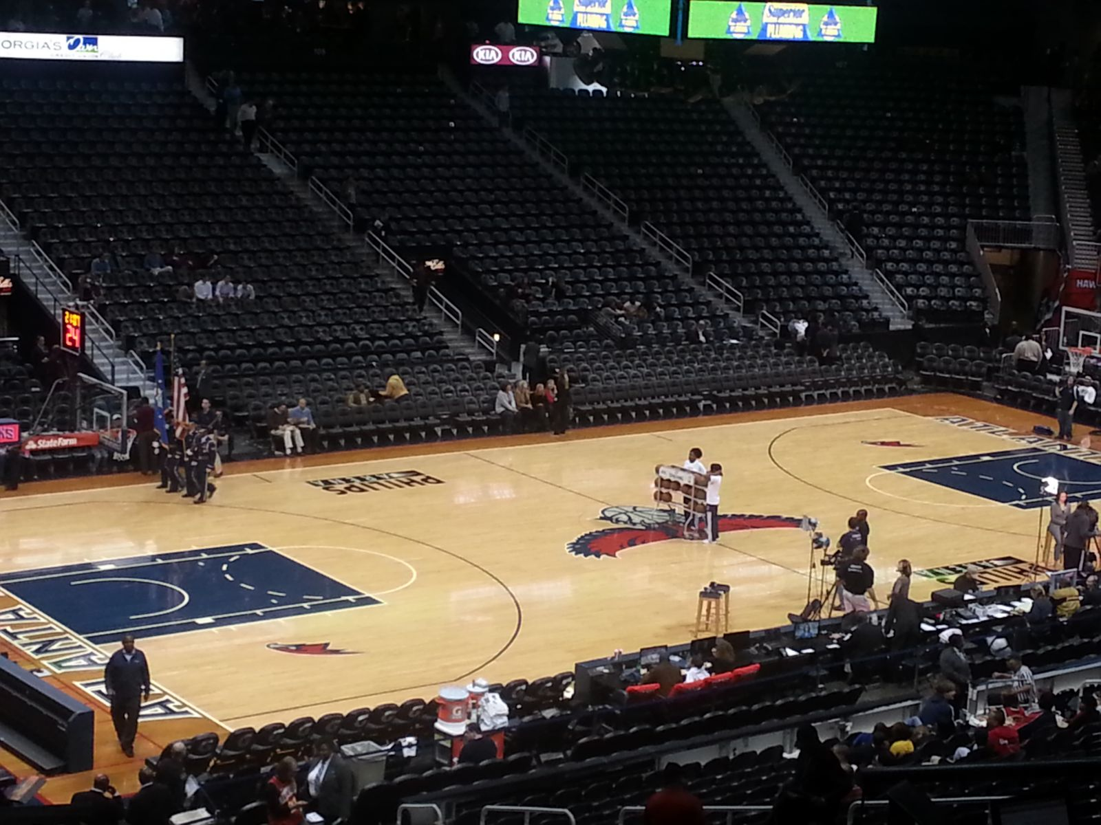 Seat View for Philips Arena Section 214, Row E